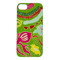 Green Organic Abstract Apple Iphone 5s/ Se Hardshell Case by DanaeStudio