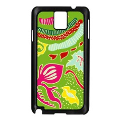 Green Organic Abstract Samsung Galaxy Note 3 N9005 Case (black)