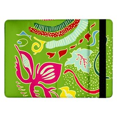 Green Organic Abstract Samsung Galaxy Tab Pro 12 2  Flip Case