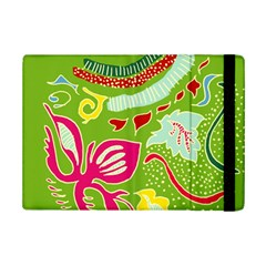 Green Organic Abstract Ipad Mini 2 Flip Cases