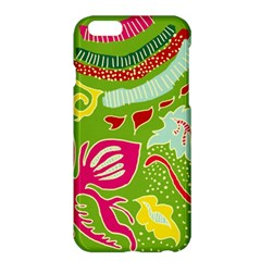 Green Organic Abstract Apple Iphone 6 Plus/6s Plus Hardshell Case by DanaeStudio