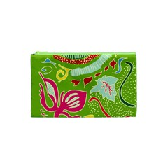 Green Organic Abstract Cosmetic Bag (xs)