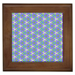 Colorful Retro Geometric Pattern Framed Tiles