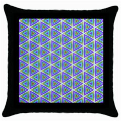 Colorful Retro Geometric Pattern Throw Pillow Case (black)