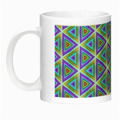 Colorful Retro Geometric Pattern Night Luminous Mugs by DanaeStudio