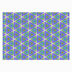 Colorful Retro Geometric Pattern Large Glasses Cloth (2 Side) by DanaeStudio