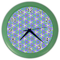 Colorful Retro Geometric Pattern Color Wall Clocks