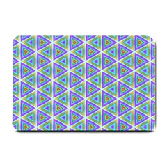 Colorful Retro Geometric Pattern Small Doormat  by DanaeStudio