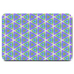 Colorful Retro Geometric Pattern Large Doormat  by DanaeStudio