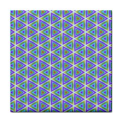Colorful Retro Geometric Pattern Face Towel