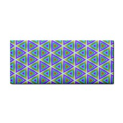 Colorful Retro Geometric Pattern Hand Towel