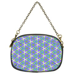 Colorful Retro Geometric Pattern Chain Purses (one Side)