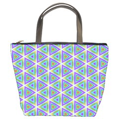 Colorful Retro Geometric Pattern Bucket Bags