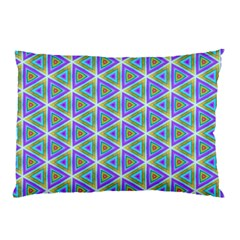 Colorful Retro Geometric Pattern Pillow Case by DanaeStudio