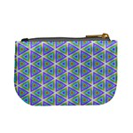 Colorful Retro Geometric Pattern Mini Coin Purses Back