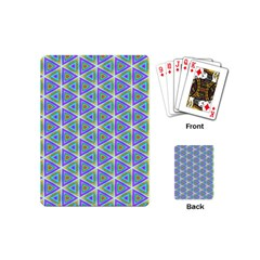 Colorful Retro Geometric Pattern Playing Cards (mini)  by DanaeStudio