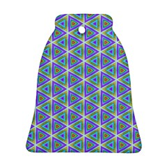 Colorful Retro Geometric Pattern Ornament (bell)