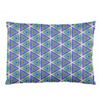 Colorful Retro Geometric Pattern Pillow Case (Two Sides) Back