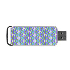 Colorful Retro Geometric Pattern Portable Usb Flash (two Sides) by DanaeStudio