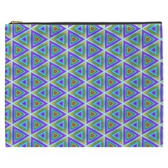 Colorful Retro Geometric Pattern Cosmetic Bag (xxxl)