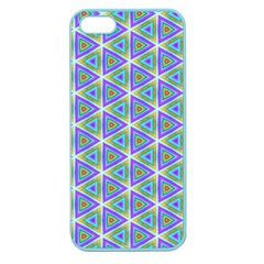 Colorful Retro Geometric Pattern Apple Seamless Iphone 5 Case (color) by DanaeStudio