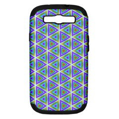Colorful Retro Geometric Pattern Samsung Galaxy S Iii Hardshell Case (pc+silicone)