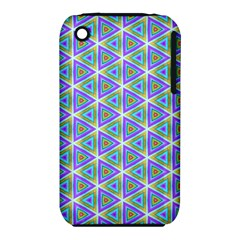 Colorful Retro Geometric Pattern Apple Iphone 3g/3gs Hardshell Case (pc+silicone)