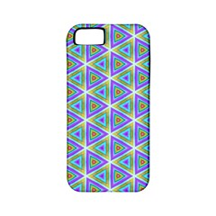 Colorful Retro Geometric Pattern Apple Iphone 5 Classic Hardshell Case (pc+silicone) by DanaeStudio