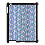 Colorful Retro Geometric Pattern Apple iPad 3/4 Case (Black) Front