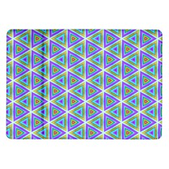 Colorful Retro Geometric Pattern Samsung Galaxy Tab 10 1  P7500 Flip Case by DanaeStudio