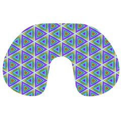 Colorful Retro Geometric Pattern Travel Neck Pillows