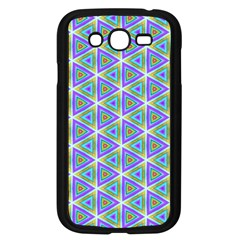 Colorful Retro Geometric Pattern Samsung Galaxy Grand Duos I9082 Case (black) by DanaeStudio