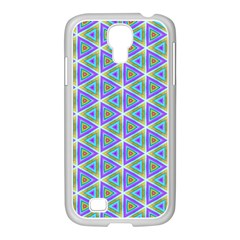Colorful Retro Geometric Pattern Samsung Galaxy S4 I9500/ I9505 Case (white) by DanaeStudio