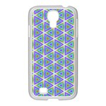 Colorful Retro Geometric Pattern Samsung GALAXY S4 I9500/ I9505 Case (White) Front