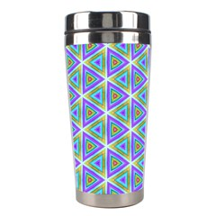 Colorful Retro Geometric Pattern Stainless Steel Travel Tumblers