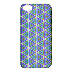 Colorful Retro Geometric Pattern Apple Iphone 5c Hardshell Case by DanaeStudio