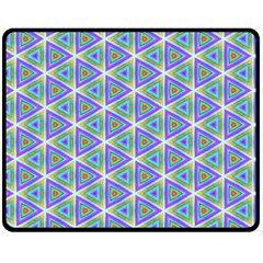 Colorful Retro Geometric Pattern Double Sided Fleece Blanket (medium)