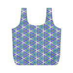 Colorful Retro Geometric Pattern Full Print Recycle Bags (M)  Front