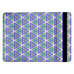 Colorful Retro Geometric Pattern Samsung Galaxy Tab Pro 12 2  Flip Case by DanaeStudio