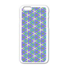 Colorful Retro Geometric Pattern Apple Iphone 6/6s White Enamel Case