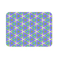 Colorful Retro Geometric Pattern Double Sided Flano Blanket (mini)  by DanaeStudio