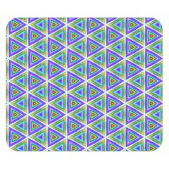 Colorful Retro Geometric Pattern Double Sided Flano Blanket (small)