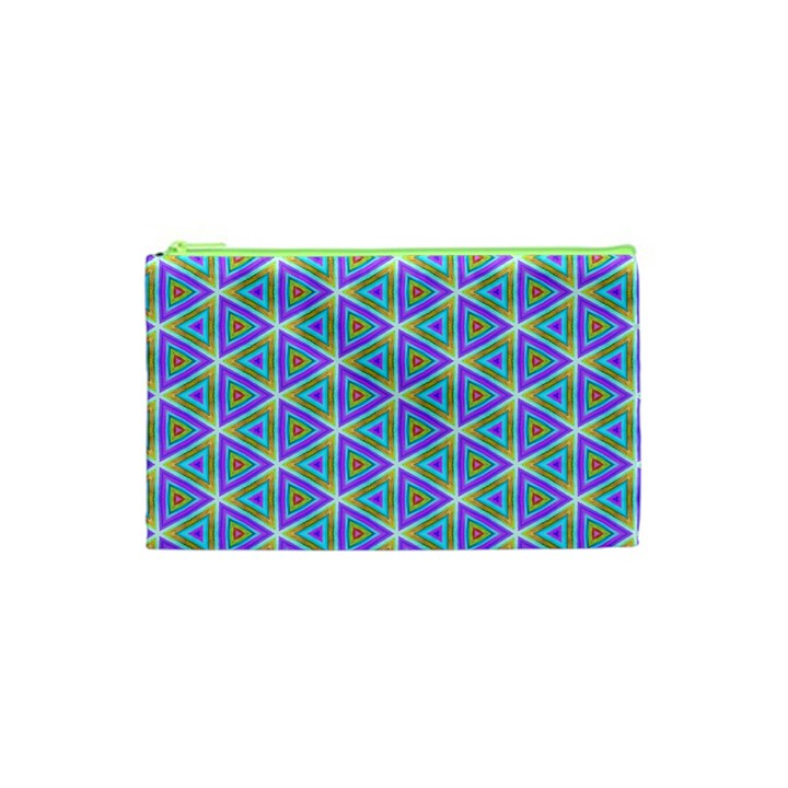 Colorful Retro Geometric Pattern Cosmetic Bag (XS)
