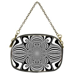 Black And White Ornamental Flower Chain Purses (two Sides)  by designworld65