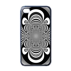 Black And White Ornamental Flower Apple Iphone 4 Case (black) by designworld65