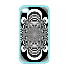 Black And White Ornamental Flower Apple Iphone 4 Case (color) by designworld65