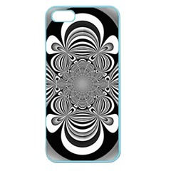 Black And White Ornamental Flower Apple Seamless Iphone 5 Case (color) by designworld65