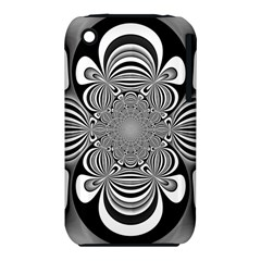 Black And White Ornamental Flower Apple Iphone 3g/3gs Hardshell Case (pc+silicone) by designworld65