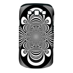 Black And White Ornamental Flower Samsung Galaxy S Iii Classic Hardshell Case (pc+silicone) by designworld65
