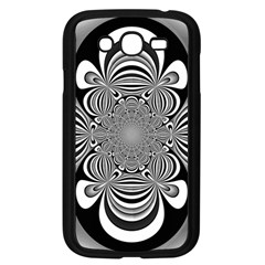 Black And White Ornamental Flower Samsung Galaxy Grand Duos I9082 Case (black) by designworld65